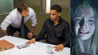 Holt McCallany and Michael Ealy in The Perfect Guy and Olivia DeJonge in The Visit