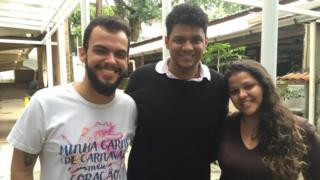 Alguns dos integrantes do grupo: Gabriel Gomes, Lucas Clementino e Michelle Egito
