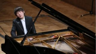 Seong-Jin Cho performs in an early concert at the Chopin piano competition, Warsaw, 3 October 2015
