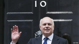 Work and Pensions Secretary Iain Duncan Smith outside Downing Street