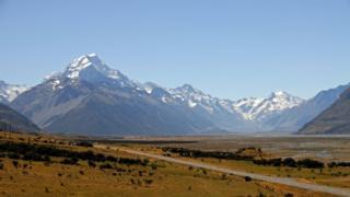 新西兰的库克峰