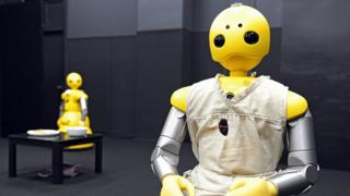 Humanoid robots Wakamaru, produced by Japan's Mitsubishi Heavy Industr