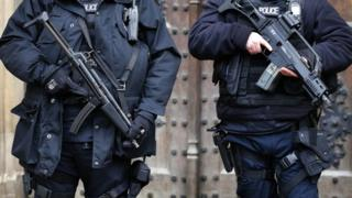 Armed police in London