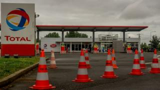Total petrol station closed