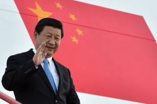 In this handout image provided by Ria Novosti, President of the People's Republic of China Xi Jinping arrives in Russia ahead of the G20 summit on 4 September 2013 in St. Petersburg, Russia.
