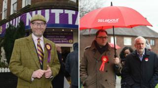 Paul Nuttall, Gareth Snell and Jeremy Corbyn