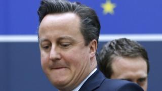 David Cameron leaving summit