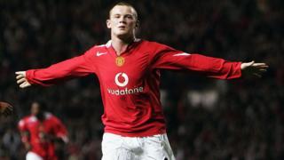 Un Rooney de 18 años el día de su debut con Manchester United.