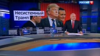 "Russian TV host Dmitri Kiselyov praises ""anti-establishment"" Trump"