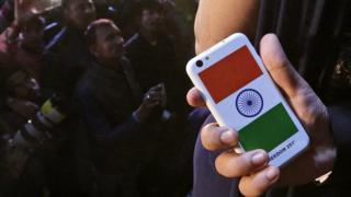 Indian company Ringing Bells in a ceremony launched what could be the world's cheapest smartphone - with a price tag of less than 4 US dollars.