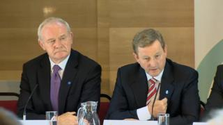 Martin McGuinness and Enda Kenny