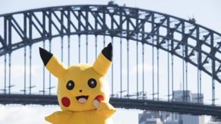 Pikachu, the famous Pokemon character