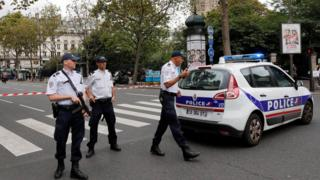 French police in security operation in Paris - September 2016