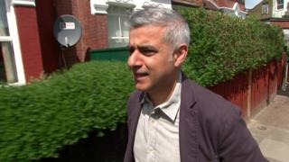 Sadiq Khan in London