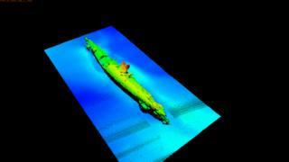 Imagen sonar del submarino alemán UB-85