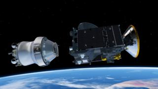 Artist's impression of separation from Breeze upper-stage