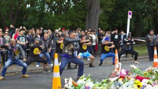 Group perform Haka at vigil