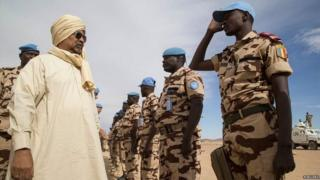 Chadian peacekeepers in Mali
