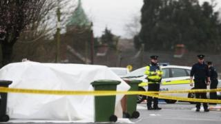 Police at the scene of the murder of Vincent Ryan in Finglas, Dublin