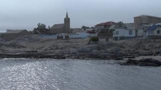 Lüderitz city in Namibia