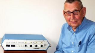 John Blankenbaker with one of his prototype Kenbak-1 computers