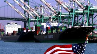 US Flag and ships