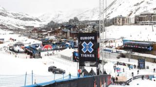 A general view of the alpine ski resort in Tignes, France, March 15, 2011