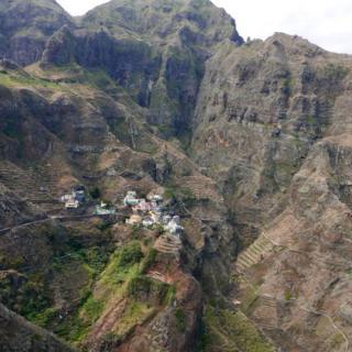 Terraced landscape in Sao Antao, Cape Verde.