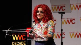 Journalist and honoree Mona Eltahawy speaks onstage during The Women's Media Center 2015 Women's Media Awards on November 5, 2015