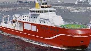 Barco de investigación polar Sir David Attenborough