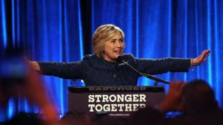 Hillary Clinton at LGBT fundraiser in New York on 9 September 2016