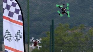 Drone race i n Bosnia, September 2016