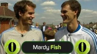 Andy and Jamie Murray play Newsround's special tennis spelling bee challenge