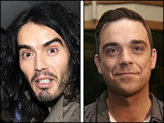 Russell Brand and Robbie Williams