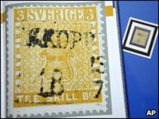 Swedish Treskilling Yellow stamp