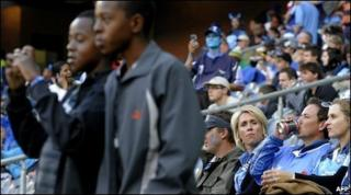 Supporters at the Bulls v Crusaders rugby match at Soweto's Orlando Stadium in Johannesburg, South Africa, 22 May 2010