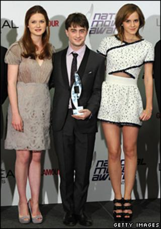 Harry Potter stars Bonnie Wright, Daniel Radcliffe and Emma Watson