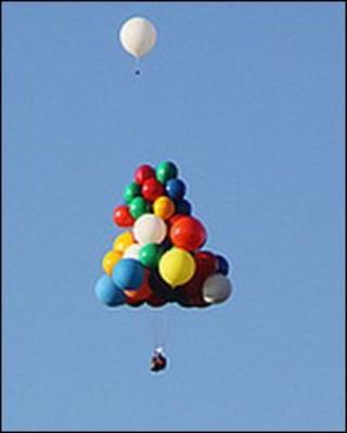 Jonathan Trappe floats above Kent