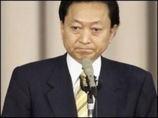 Japanese PM Yukio Hatoyama in Tokyo (2 June 2010)