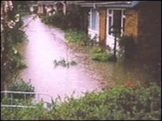 Flood scene in Peopleton