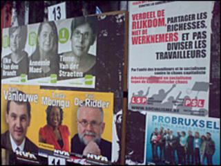 Election posters in Brussels