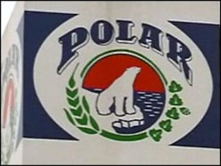 Polar beer logo on outdoor sign