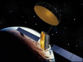Artists' impression of a satellite in space