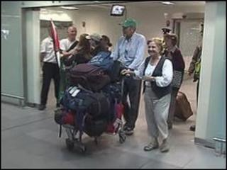 The five arrived back at Dublin airport on Monday morning