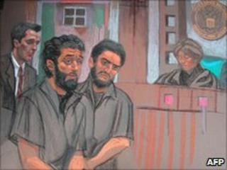 Mohamed Alessa and Carlos Almonte appear in court