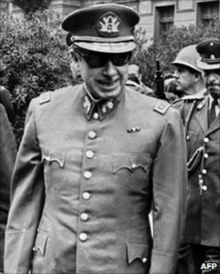 File photo from September 1973 after Gen Pinochet seized power in a coup