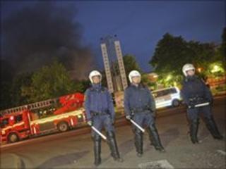 Swedish police, Rinkeby - 9 June 2010
