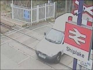 Driving across level crossing