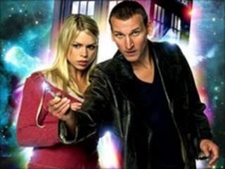 Billie Piper and Christopher Ecclesto