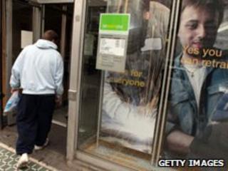 Man entering job centre